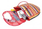 NEW Striped Knitting-Craft Tote  Ideal to take on holiday