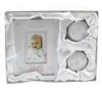 Baby Girl Gift Set Photo Frame 1st Curl Tooth