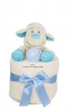 LITTLE LAMB BABY BOY MINI NAPPY CAKE