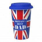 Travel Mug  Britains Best Dad  Double walled ceramic