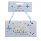 NEW Elliot Babys Door Plaque Blue