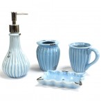 Vintage Bath Set - Powder Blue