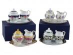 Vintage Chintz  3pc Miniature Tea Set