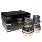 Polished Aluminum Pro Binoculars