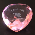 I Love You Daughter Heart-Shaped Crystal