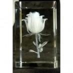 Rose Crystal Block