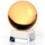 60mm Yellow Crystal Ball On Stand