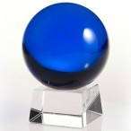 60mm Blue Crystal Ball On Stand