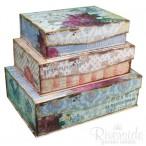 Tri-Coastal Design Vintage Chic Set of 3 Boxes