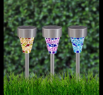 Mosaic Solar Lights Set of 3