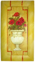 Painted Frame Art - Pot Carnations