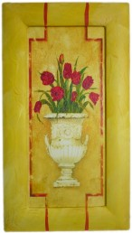 Painted Frame Art - Pot Tulips