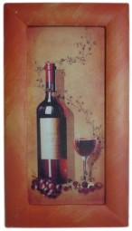 Painted Frame Art - Red Wine