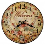 Wall Clocks-Welcome All Friends