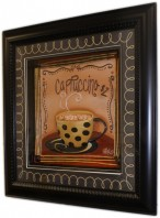 Cappuccino - Hand Painted Relief Art
