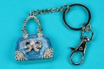 Diamante Handbag  Keyring