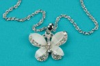 Small Silver Butterfly Pendant