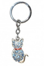 Diamante Keyrings - Cat