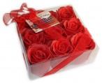 Bath Confetti -9 Roses Box - Red
