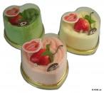 Strawberry Cheese Cake Heart