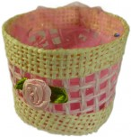 Favours - Round Basket - Pink