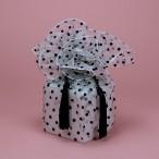 Organza White Polka Dot Fabric Wrap