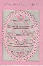 Birth of Baby Girl Elegance Card