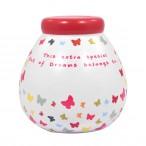 Personalised Pot of Dreams - Butterflies