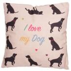 Cushion with Insert - I LOVE MY DOG