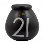 Celebrate in Style 21st Birthday Pots of Dreams Black