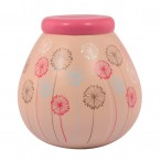 Dandelion Pots of Dreams Money Pot Pink Top