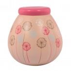 Dandelion Pots of Dreams Money Pot Pink Top