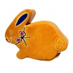 Handmade Leather Money Box - Small Yellow Bunny