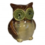 Ceramic Owl Money Boxes - Brown