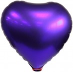 Blue Heart Foil Balloon Includes Straw Holder