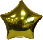 Gold Star Foil Balloon  Includes Straw Holder
