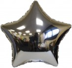 Silver Star Foil Balloon Includes Straw Holder