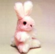 Baby Pink Bunny 6 inch