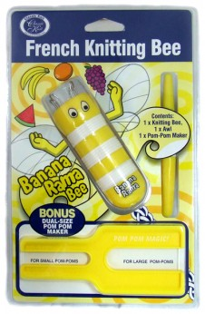 French Knitting Bee Pom Pom Maker in Yellow