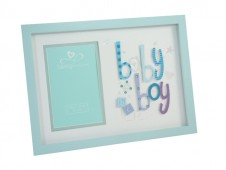 3D Letter Frame Baby Boy by Talking Pictures