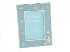 Silver Plate Blue Bear Photo Frame 4x6