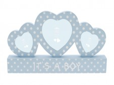 Baby Boy Tripple Heart Frame