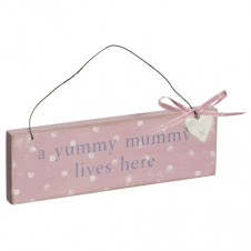 Yummy Mummy Lives Here Wooden Plaque