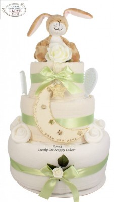 DELUXE GUESS HOW MUCH I LOVE YOU UNISEX NAPPY CAKE