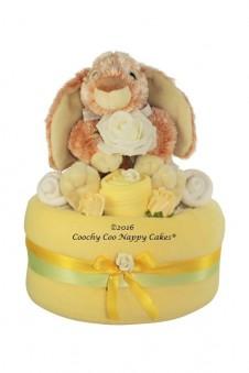 BABY BUNNY RABBIT UNISEX NAPPY CAKE GIFT