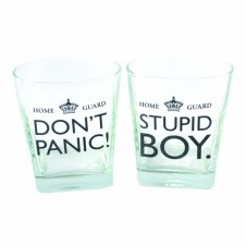 Dads Army Pair Of Whiskey Glasses