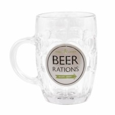 Dads Army Beer Rations Pint Glass Beer Tankard