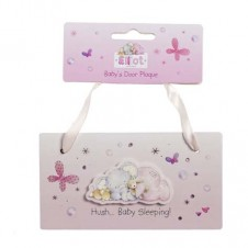 NEW Elliot Babys Door Plaque Pink