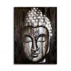 Wood Buddha Silver - Painting