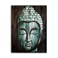 Wood Buddha Green - Painting